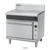 G576 GAS TARGET TOP CONVEC-TION OVEN RANGE 900mm