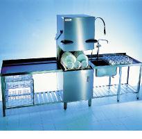 Winterhalter GS 501 electro-mechanical rack pass through dishwasher