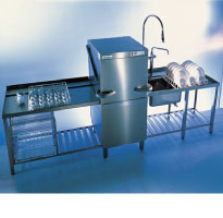 Winterhalter GS 502 double skinned, electronic rack pass through dishwasher